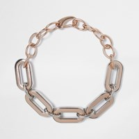 River Island Womens Rose Gold Tone Large Chain Necklac