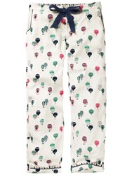 Fat Face Balloon Print Trousers Ivory Multi