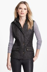 Women's Barbour 'Cavalry' Quilted Vest Black