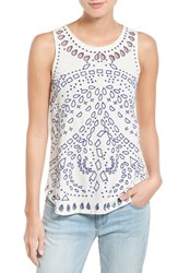 Women's Lucky Brand Embroidered Eyelet Tank