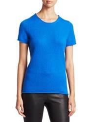 Saks Fifth Avenue Collection Cashmere Tee Nightfall Princess Blue Ebony Pale Grey Heather
