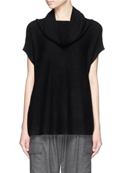 Vince Cowl Neck Cashmere Sleeveless Sweater Black