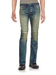 Cult Of Individuality Straight Leg Cotton Jeans Lager