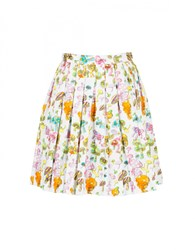 Olympia Le Tan Gorilla Glue Bloomers Print Skirt White Multi