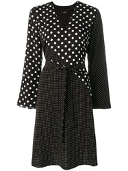 Paul Smith Ps Polka Dot Wrap Around Dress Black