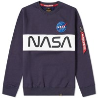 Alpha Industries Nasa Inlay Crew Sweat Blue