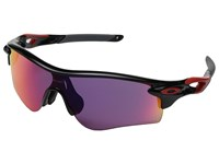 Oakley A Radarlock Polished Black Red Prizm Road Plastic Frame Fashion Sunglasses