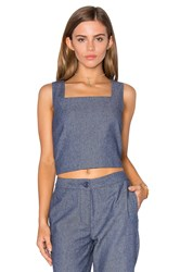 Lucy Paris Boxed Crop Top Blue
