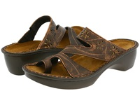 Naot Footwear Montreal Burnt Copper Leather Women's Slide Shoes Brown