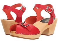 Swedish Hasbeens Pia High Red Women's Shoes