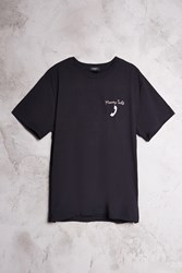 Forever 21 Money Talk Graphic Tee Black Pink