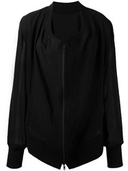 Ann Demeulemeester Zipped Lightweight Jacket Black