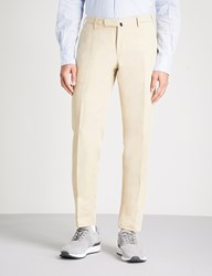 Slowear Slim Fit Tapered Linen And Cotton Blend Chinos Khaki