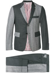Thom Browne Fun Mix Shadow Stripe Suit Grey