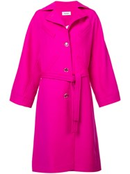 Courreges Oversized Trench Coat Pink And Purple