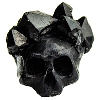 Macabre Gadgets Black Crystal Crown Ring Multi