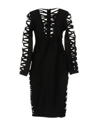 Wow Couture Knee Length Dresses Black