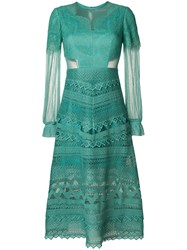 Three Floor Lace Affinity Dress Green
