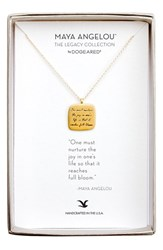 Dogeared Women's 'Legacy Collection One Must Nurture The Joy' Pendant Necklace