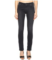 Love Moschino Acid Wash Trousers Black Denim Women's Casual Pants