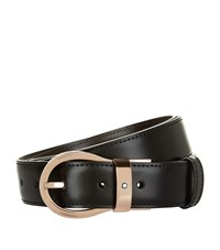 Montblanc Reversible Rose Gold Buckle Belt Unisex Black