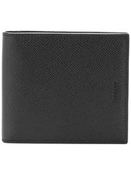 Bally Bifold Logo Embossed Wallet Black