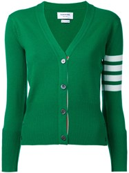 Thom Browne Cashmere V Neck Cardigan Green