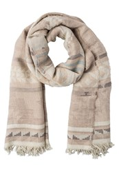 Polo Ralph Lauren Beacon Scarf Oatmeal Seafoam Off White