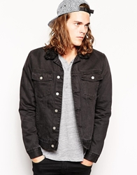 Cheap Monday Lined Sherpa Denim Jacket Black