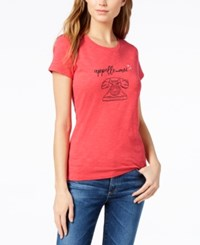 Maison Jules Short Sleeve Graphic T Shirt Created For Macy's Crushed Coral