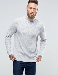 Asos Cable Knit Roll Neck Jumper Grey