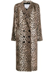 Redemption Leopard Print Double Breasted Coat 60