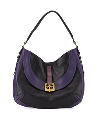 Oryany Bessie Colorblock Leather Hobo Bag Black Multi
