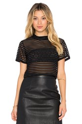 Rise Parallel Lines Crop Top Black