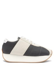 Marni Big Foot Low Top Suede Trainers Grey