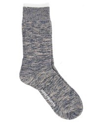 Norse Projects Mottled Blue Bjarki Blend Socks