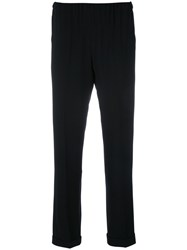 Alberto Biani Drawstring Cropped Trousers Black