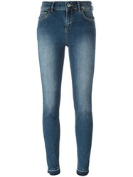 Twin Set High Rise Skinny Jeans Blue