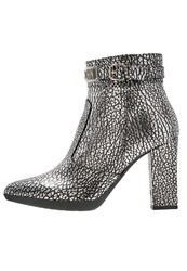 Love Moschino High Heeled Ankle Boots Argento Silver