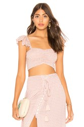 Tiare Hawaii Hollie Ruffle Top Blush