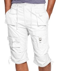 Sean John Shorts Big And Tall Classic Flight Cargo Shorts Bright White