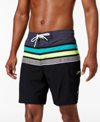 Speedo Men's Nautical Board Shorts 8 Speedo Black