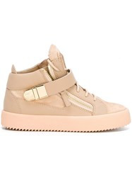 Giuseppe Zanotti Design 'Carter' Mid Top Sneakers Pink And Purple