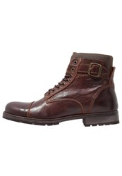 Jack And Jones Jfwalbany Laceup Boots Brown