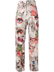 Wunderkind High Waist Printed Trousers Multicolour