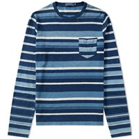 Polo Ralph Lauren Long Sleeve Stripe Tee Blue
