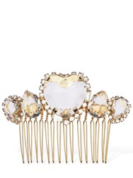 Rosantica Cuori Crystal Hair Comb Gold