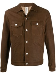 Giorgio Brato Burnished Button Up Jacket 60