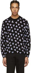 Kenzo Black Allover Triangle Sweater
