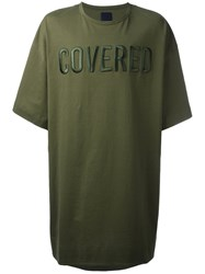 Juun.J Front Patches Oversized T Shirt Green